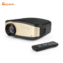 Gigxon-C6 + Mini WiFi Proyector 1200 lúmenes Ayuda 720 P 1080 P Proyector de Cine En Casa Para Pequeñas Reuniones
