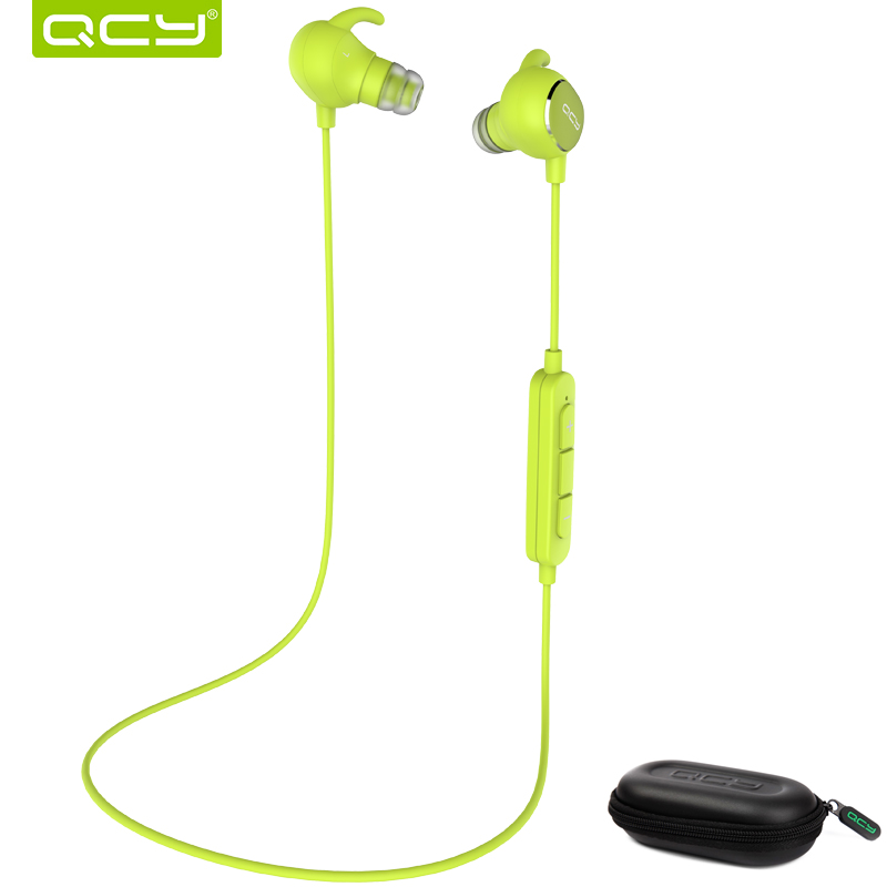 QCY QY19 Sports Bluetooth earphone fast charge stereo wireless headset with mic and portable storage box for Iphone,Xiaomi 4