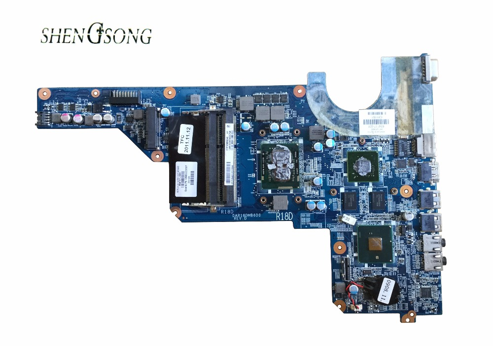 655985-001 Free Shipping G6-1000 654117-001 for HP G4 G6 motherboard DAR18DMB6D0 I3-370M DSC HM55 520M 1G 100% full tested OK 608204 001 free shipping motherboard for hp dm4 dm4 1000 hm55 chipset model full tested