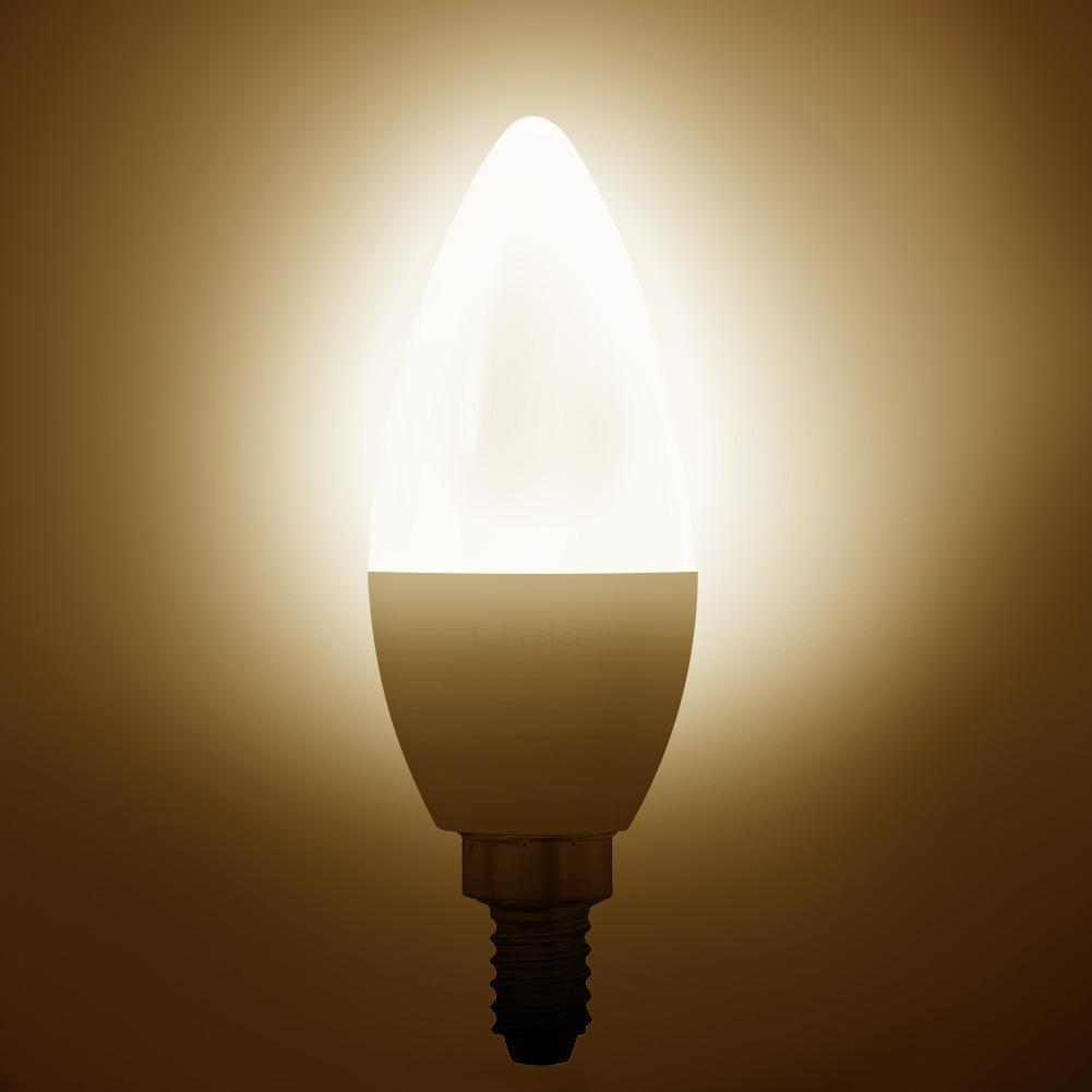 Litake 108 Verpakt E12 Base LED Lamp Kandelaar Gloeilampen Non dimbare Daglicht Wit Warm Wit Licht 6 W - 3