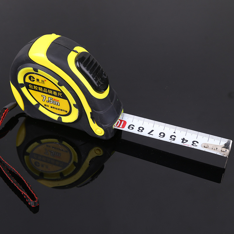 7.5M Grip Tape Measure Width 25mm Metric Double Scale Automatic Measuring Tape With Thumb Lock Thicken