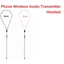 """Inductieve Oortelefoon Kabel W/ Voice Zender Functie Handsfree Voice Zender Oortelefoon Kabel Voor Telefoon Voor 3.5 """"Jack Telefoon"""
