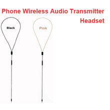 """Inductive Earphone Cable W/ Voice Transmitter Function Handsfree Voice Transmitter Earphone Cable for Phone for 3.5"""" Jack Phone"""