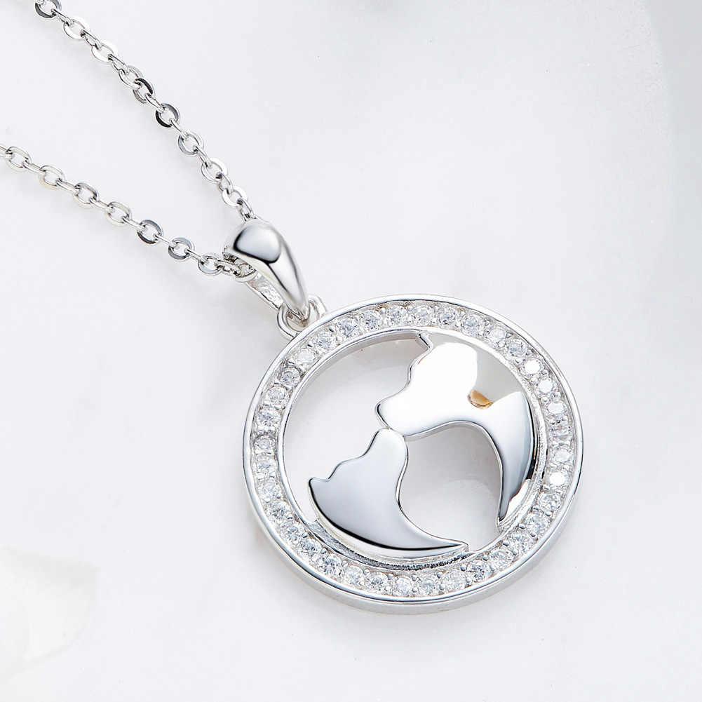 Heezen со светящимся кубическим цирконием круглый и в форме собаки кулон ожерелье с кристаллами австрийский горный хрусталь проложили Элегантное ожерелье для женщин