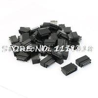 50 Pcs 2.54mm Pitch Double Rows Straight PCB IDC Pin Headers 14 Pins
