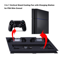 New Game Controller Charging Dock Station Dual Console Cooling Fan Temperature Control Cooler For PlayStation PS4