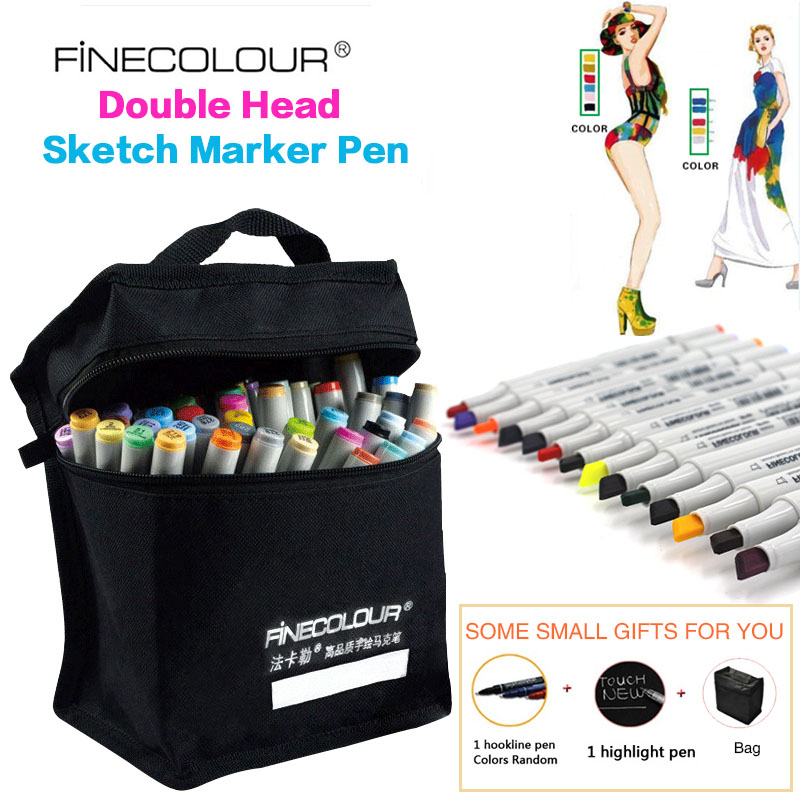 FINECOLOUR 160 Colors Optional Alcohol Based Marker Double Headed Sketch Drawing Marker Pen Set Painting Sketch Art Marker Pen sta 128 colors double headed sketch alcohol drawing marker pen 24 36 48 60 72 set animation common paint sketch art marker