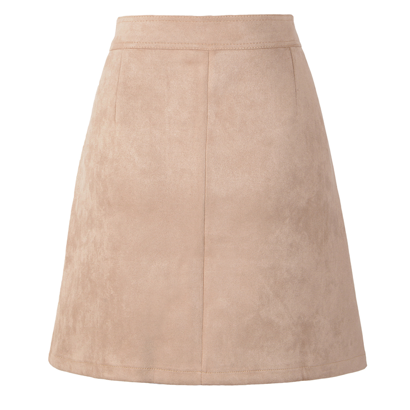 Neophil 19 Winter Women Suede Button Mini Vintage Style A Line Skirts High Waist Black Wrap Ladies Short Skirt Tutu Saia S1001 15