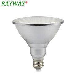 RAYWAY 20 W E27 PAR38 impermeable al aire libre IP65 bulbo del punto de luz LED AC85-265V iluminación interior lámpara cálida zoquete blanco ampolla