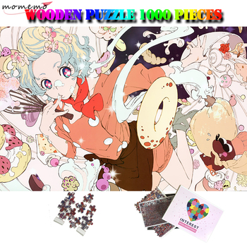 MOMEMO Pastry Maker Cartoon Adult 1000 Pieces Puzzle Wooden Anime Painting Jigsaw Puzzles 1000 Piece Adult Puzzle Toy Kids Gifts