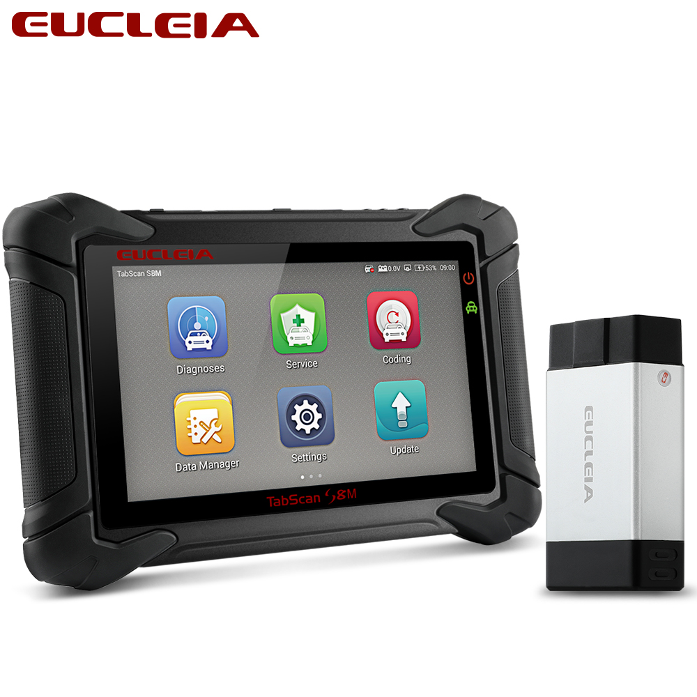 EUCLEIA S8M OBD2 Professional Full System Automotive Scanner ABS EPB Immo PK MS906 MS908 X431 V X431 Pro OBDII Diagnostic ToolAuto Key Programmers   -