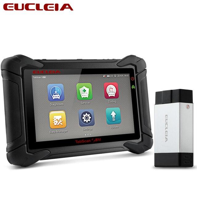 EUCLEIA S8M OBD2 Professionelle Full System Automotive Scanner ABS EPB Immo PK MS906 MS908 X431 V X431 Pro OBDII Diagnose werkzeug