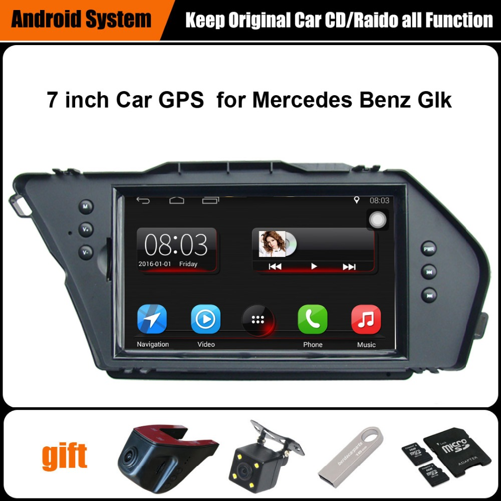 Upgraded Original Car multimedia Player Car GPS Navigation Suit to Mercedes Benz Glk Support WiFi Smartphone Mirror-link