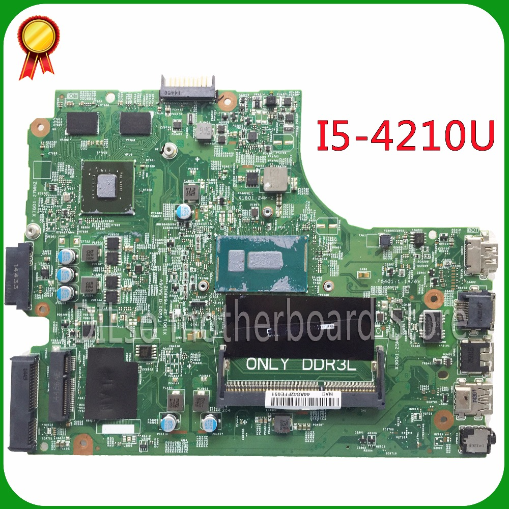 SHUOHU 13269-1 For DELL inspiron 3542 DELL 3442 motherboard 13269-1 PWB FX3MC REV A00 motherboard  I5-4210u PM freeshipping ноутбук dell inspiron 3567