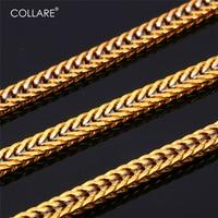 Collare Franco Collar de Cadena de Moda de Los Hombres de Color Oro Nuevo 55 CM de Dos Tonos Cadena Para Hombres Joyería Africana N155