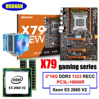 HUANAN Deluxe X79 Motherboard Xeon E5 2660 V2 RAM 32G 2 16G DDR3 1333MHz RECC With