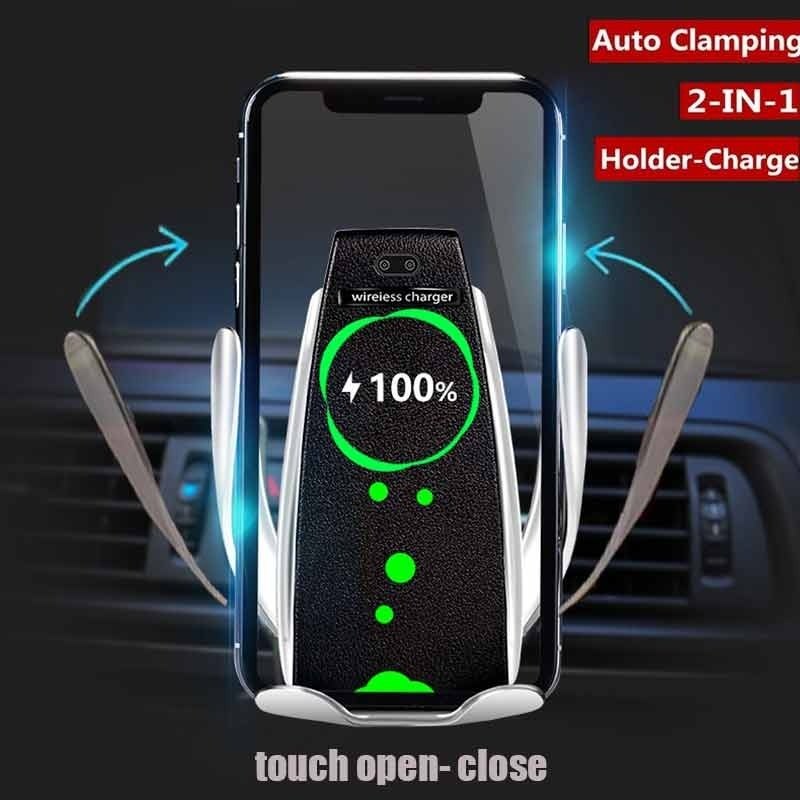 2 in 1 Fast Wireless Charger Car Holder for iPhone XS Samsung Mobile Phone Stand Air