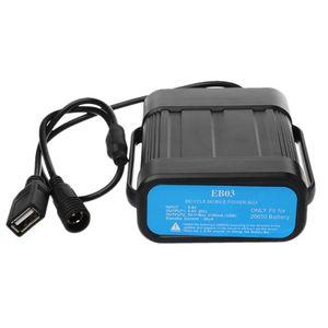 Image 3 - Wasserdichte Fahrrad Licht Batterie Fall 2x26650/8,4 V 3x18650/26650/12 V Batterie lagerung Box Mobile Power Bank Lagerung Box mit Kabel