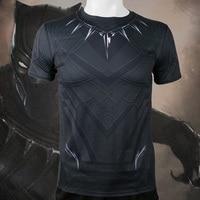 Captain America 3 T Shirt Black Panther 3D Printed T Shirts Men Compression Short Sleeve Shirt