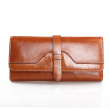 ONEFULL NEW HIGH QUALTY Genuine leather long business casual wallet retro coin purse credit card holder wallet wallets brand