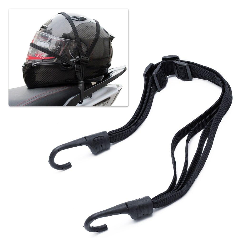 2 Motorcycles Hooks Strength Retractable Hooks Helmet Rope Fuel Tank Luggage Net Mesh Bungee Helmet Elastic Rope Strap Net Belt