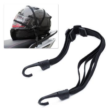 2 motocykle haki siła chowane haki kask liny bagaż zbiornika paliwa netto Mesh Bungee kask elastyczny sznur pasek netto pas tanie i dobre opinie RETFGTU Nylon 60CM C8-5372