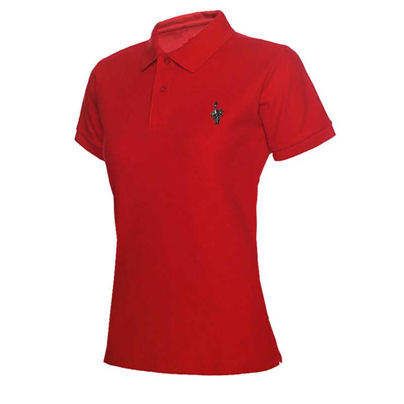 2020 女性の夏のコットンポロシャツ夏ファッション女性ターンダウン襟カジュアルポロシャツ半袖綿固体スリム 0122