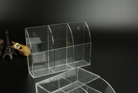 Acrylic TV Remote Control Box Holder Wall Mounted Acrylic Bin Box Home Storage Rack Container Sundries