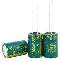 Nuevo producto de calidad, 25v, 2200uf, 2200uf, 25v, tamaño: 13x21mm