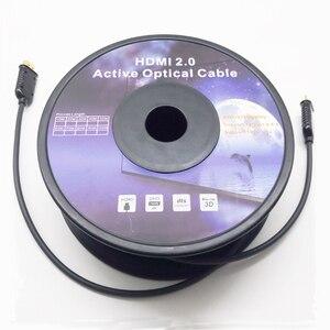 10 M 20 M 30 M 50 M 70 M 100 M di Lunghezza In Fibra Ottica HDMI Cavo 2.0 4 K 60 hz HDMI Maschio a Cavo Maschio di HDMI HDR per PS4 HD TV Box Proiettore