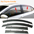 Car Stylingg Awnings Shelters 4pcs/lot Window Visors For Toyota Corolla 2007-2017 Sun Rain Shield Stickers Covers