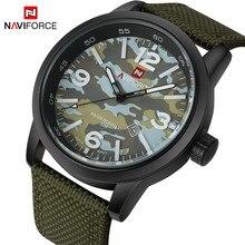 NAVIFORCE D'origine Marque De Luxe Sport Militaire Quartz Montre Homme Analogique Date Horloge Sangle En Nylon Montre-Bracelet Relogio Masculino