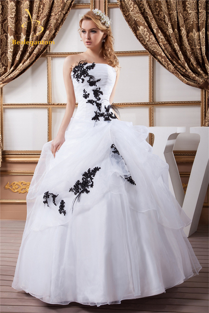 815be00c5f3 Bealegantom Sexy Fashion Black Appliques White Ball Gown Quinceanera Dresses  2018 Sweet 16 Dresses Vestido Debutante Gowns BQ0-6