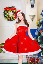 The New Women Sexy santa costumes christmas dress Cosplay for woman fancy  dress costume Halloween Adult Santa Clause Xmas acf78573a2c6