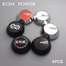 KOM 4pcs 65mm advan racing center caps chrome / black wheel hub cap for enkei rims xxr logo ssr gtx01 gtv01 clip 60mm/2.36 inch