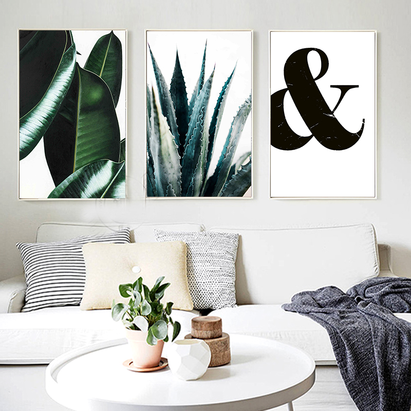 Abstract Minimalist Canvas Black Symbol Painting Nordic Hipster Wall Art Picture Poster Print For Living Room Home Decoration in Painting Calligraphy from Home Garden