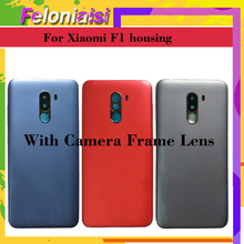 For Xiaomi PocoPhone F1 Battery Cover Back Housing Rear Door Case+Camera Frame for Xiaomi Pocophone F1 Battery Cover Replacement for xiaomi pocophone f1 case slim skin matte cover for xiaomi f1 pocophone f1 case xiomi hard frosted cover xiaomi poco f1 case