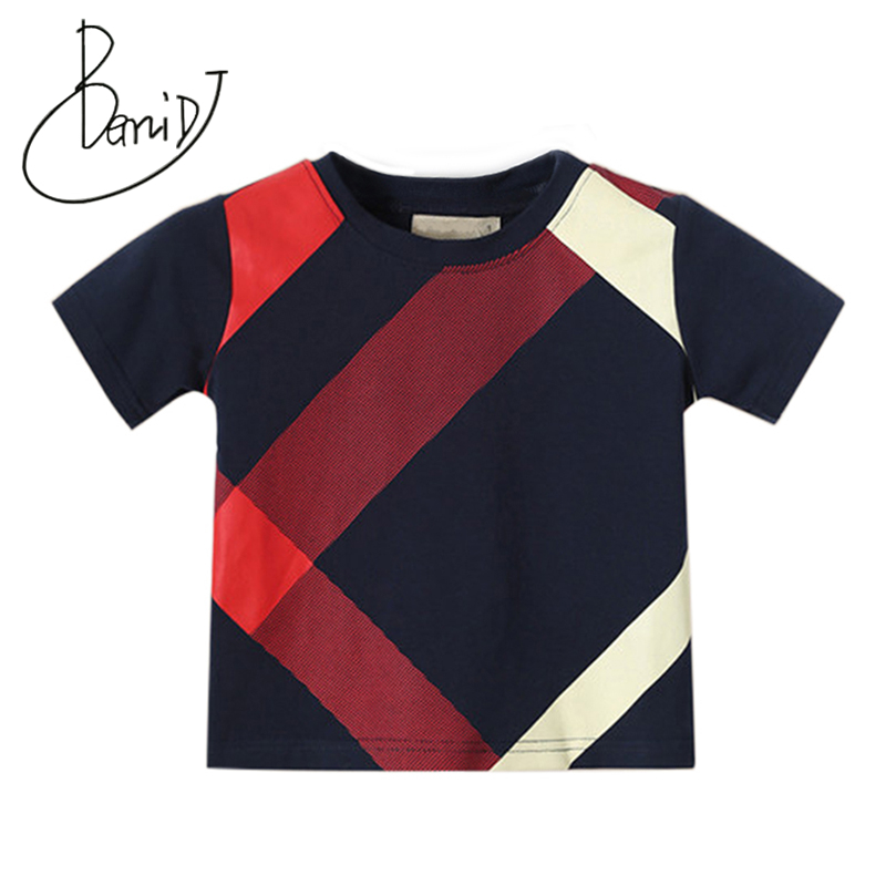 2019 Boys Sets Summer shorts clothes O-Neck Short Sleeve Tops Cotton England Style Boy Tee Shirt Children's T-shirt+shorts Suit(China)