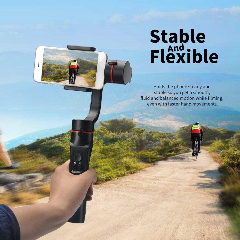 Stabilisateur de cardan de téléphone portable Bluetooth 360 degrés panoramique pour la photographie SD998