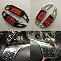 Para Mercedes classe E W212 2011 2012 2013 2014 Benz Carro Interruptor Paddle Shifters Volante Guarnição Da Tampa Tipo de Uma Liga de Alumínio
