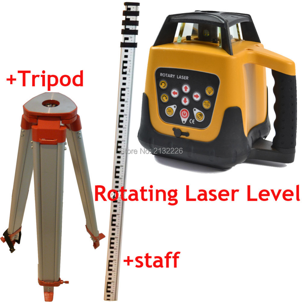 TOP SELF-LEVELING ROTARY/ ROTATING LASER LEVEL +TRIPOD+STAFF, 500M RANGE ,RED BEAM,GOOD QUALITY AND LOWER PRICE B1 rotary encoderec40b6 l5ar 500