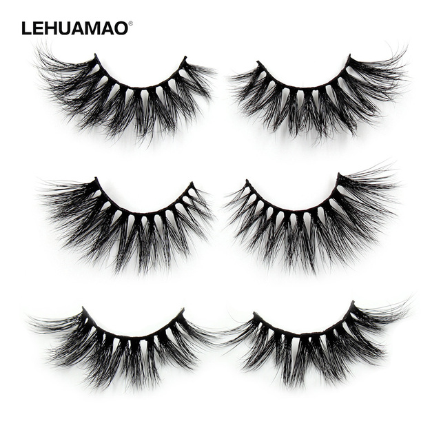 53d934b7ee6 LEHUAMAO Eyelashes 3D Mink Lashes Thick Crisscross 25MM False Eyelashes  Volume And Depth Dramatic lash Flirty Full Finish Makeup
