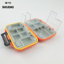 SHOU DIAO 12 Compartments Fishing Lure Box Storage Case Hook Spinner Fly Accessories Waterproof Boxes