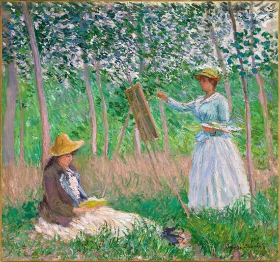 Claude Monet Wall Art Picture Gift Unframed 1 Panel Two women in the field painting HD Top-Rated Canvas Painting For Living Room