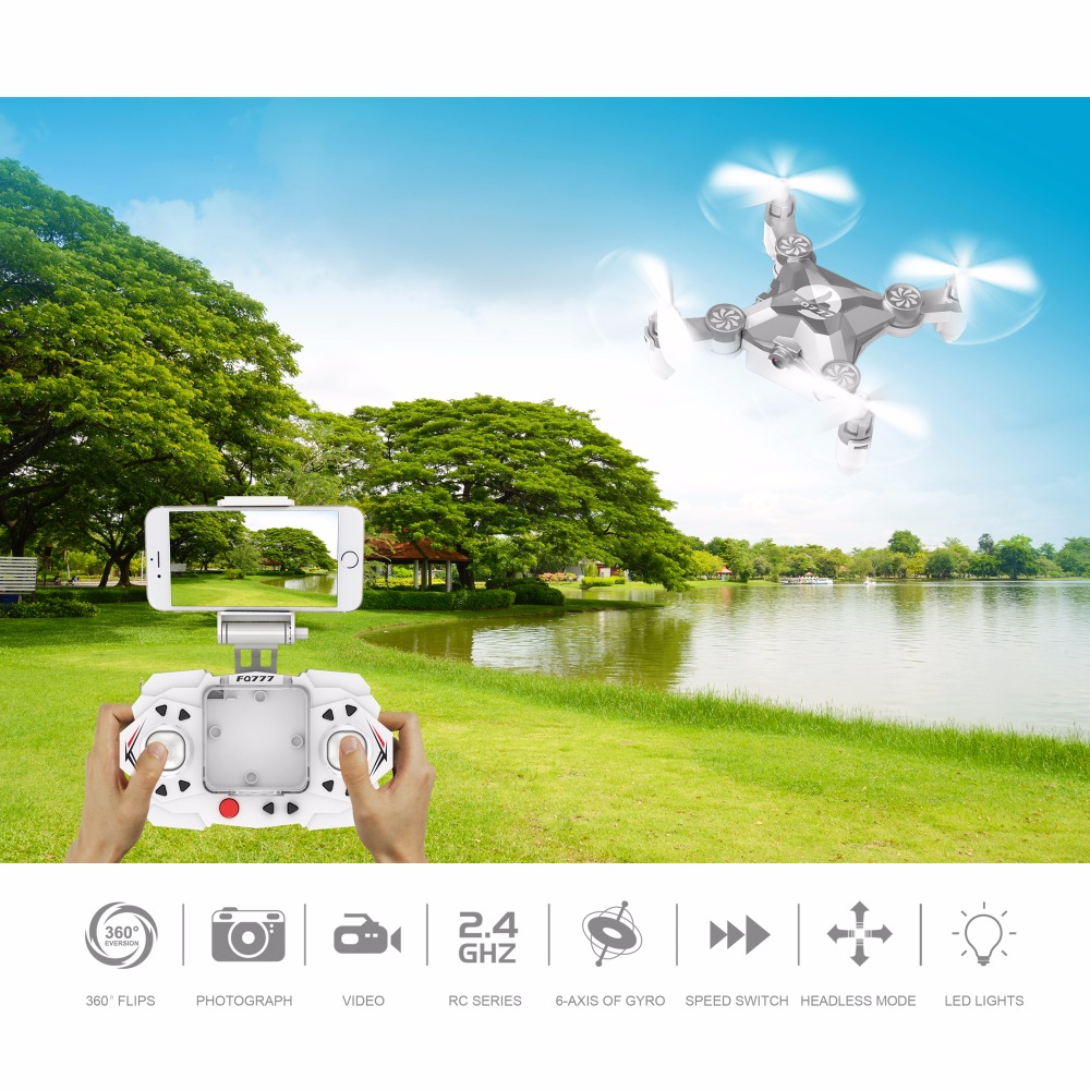 WIFI Drone FQ777 FQ11W 2.4G 4CH 6-Axis Gyro WIFI FPV Mini Pocket Drone Rotatable RC Quadcopter W/ 0.3MP Camera VS Cheerson CX-10 rc drone cheerson cx10d cx 10d mini drone 4ch rc helicopter 6 axis rc quadcopter fpv drone with 0 3mp wifi camera vs cx 10