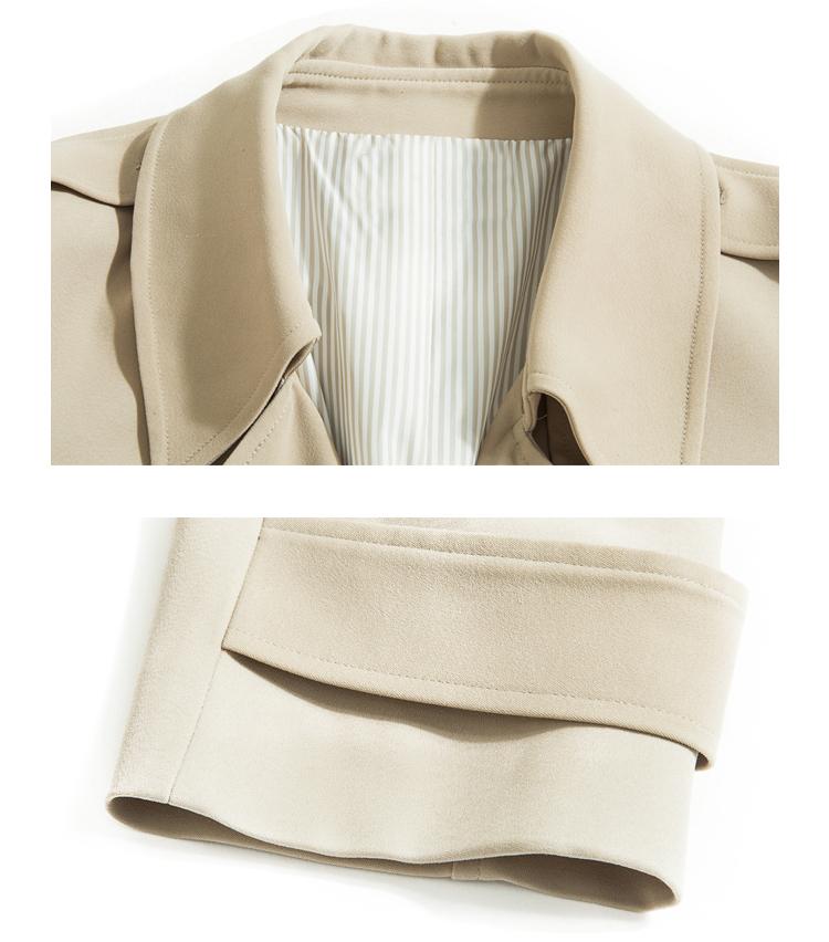 Spring Autumn Maxi Long Women's Loose Trench Coat With Belt Khaki & Black Plus Size Korean Style Windbreaker Outwear 3