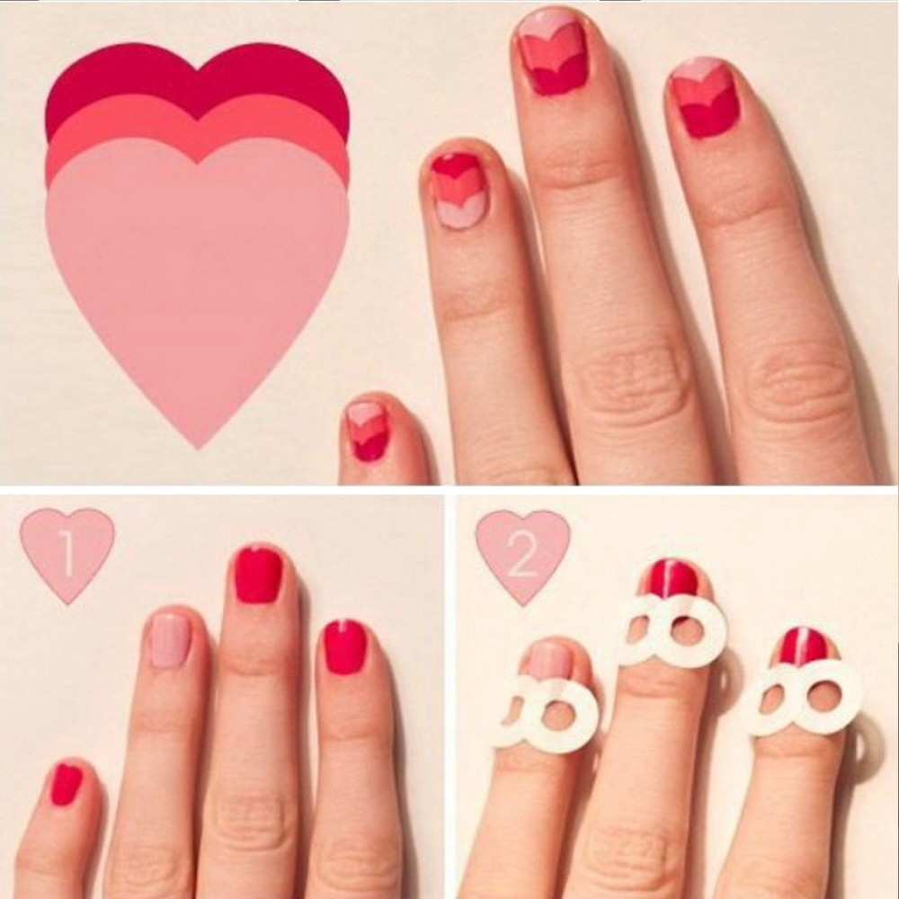 5 Packs French Manicure Smile Tip Guides Diy Nail Art Stickers In