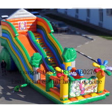 цена на PVC Inflatable water slide with pool commercial inflatable slide for kids bouncers water pool  inflatable slide
