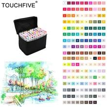 Touchfive 80 цветов маркер рисунок анимация эскиз маркеры copic маркеры набор для художника манга graphic спиртовой основе кисть