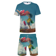 Ponyo On The Cliff T-shirt+Beach shorts men /women Hip Hop Summer Casual 3D print boys/girls two-piece cool sets(China)